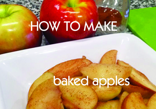 Recipe of the Week:  Quick Baked apples