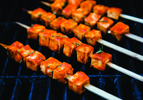 Recipe of the week:  Skewered Tofu on the Grill