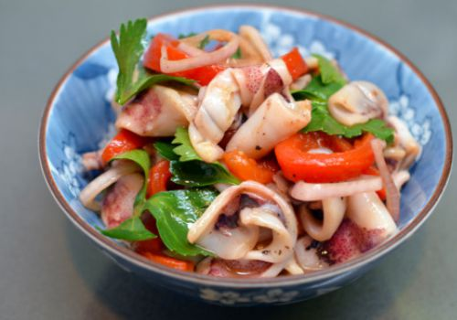 Recipe of the Week:  Squid and Red Pepper Stir Fry