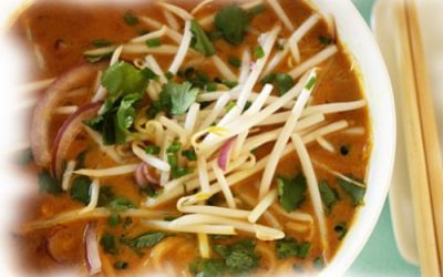 Thai Curried Chicken Noodle Soup